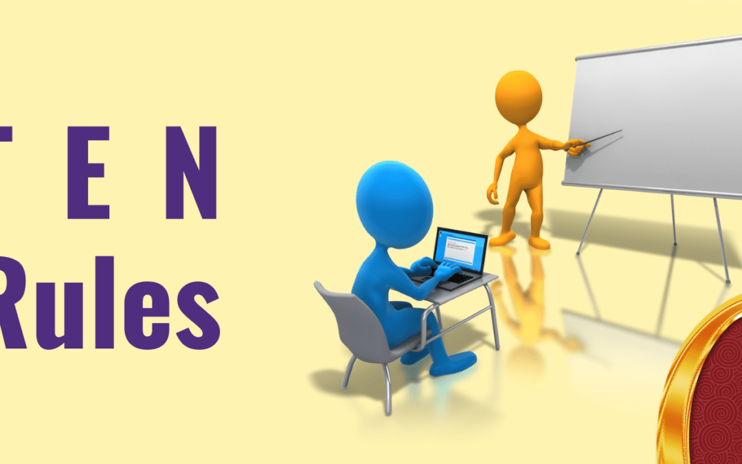Ten Rules for Effective Presentations
